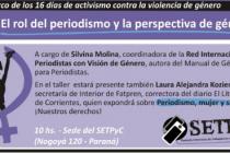 """Taller """"El rol del periodismo y la perspectiva de género"""""""