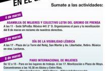 Semana de Lucha por los derechos de las mujeres en el Gremio de Prensa