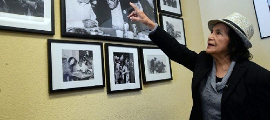 Dolores Huerta, la icónica militante sindical, en pie de lucha a los 86 años