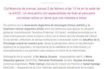 El INC, la AAOC y la Coalición Cáncer Argentina unen esfuerzos en el Día Mundial del Cáncer