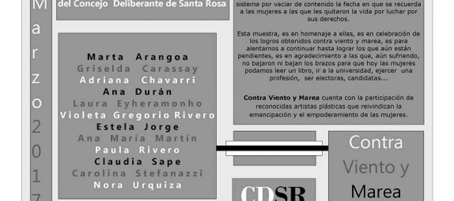 """""""Contra Viento y Marea""""  Muestra en el mes de la Mujer"""