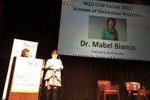 Mabel Bianco: Premio mujer distinguida del año en Nueva York