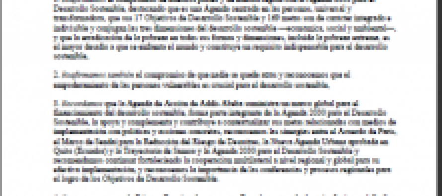 Informe anual sobre el progreso y los desafíos regionales de la Agenda 2030 para el Desarrollo Sostenible en América Latina y el Caribe – 2017