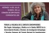 Rita Segato llega a La Pampa