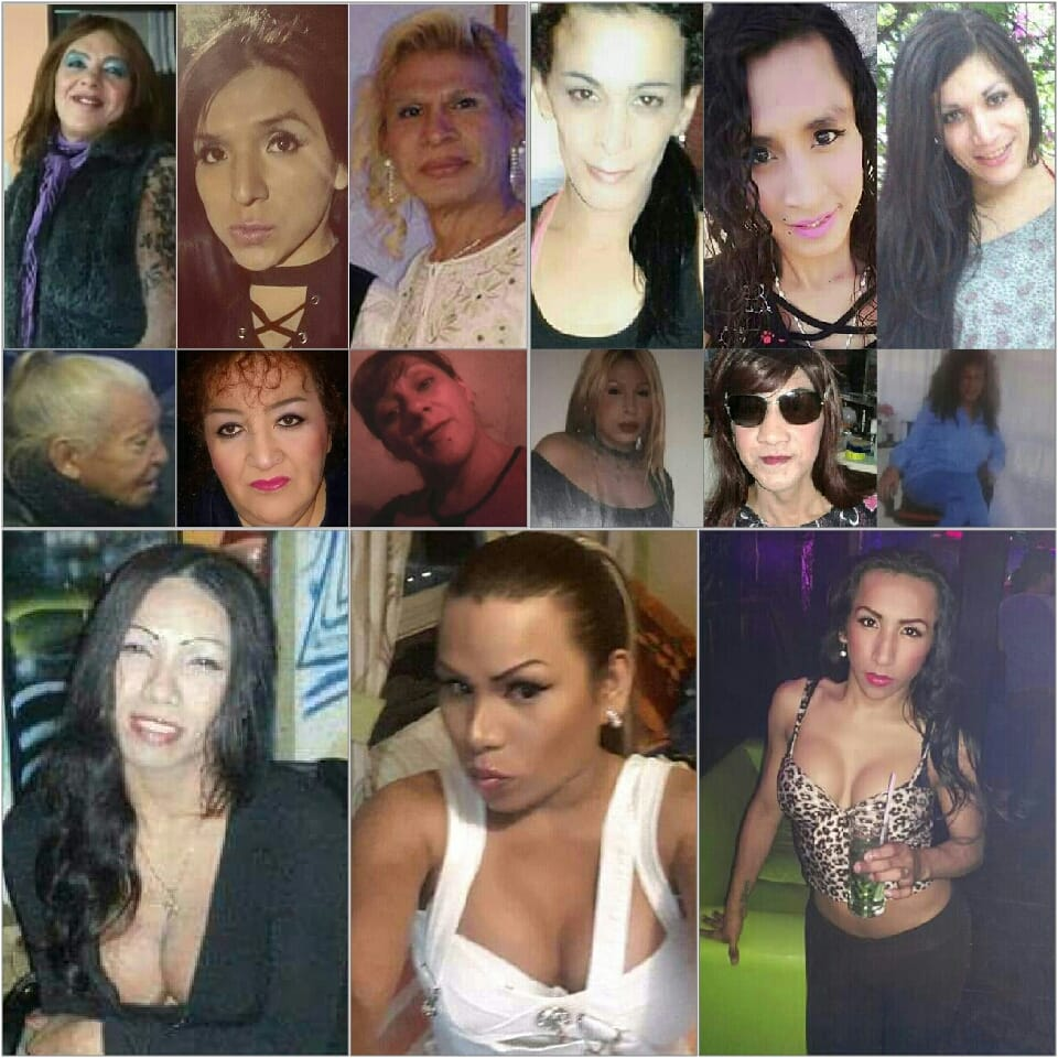 Imágenes de mujeres trans muerta. Recopilación de Beatriz Evelyn Silva