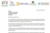 Los Defensores y Defensoras de los Derechos de Niñas, Niños y Adolescentes enviaron una dura carta al Presidente de la Nación
