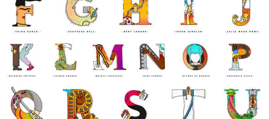 El alfabeto que homenajea a grandes mujeres de la historia