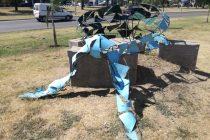 Organizaciones feministas repudian vandalismo a escultura por el aborto legal