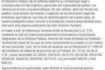 El Ministerio Público de la Defensa reafirma su compromiso legal y constitucional con las mujeres y personas con capacidad de gestar