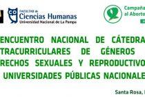 l Encuentro nacional de cátedras extracurriculares de géneros y derechos sexuales y reproductivos de universidades públicas nacionales