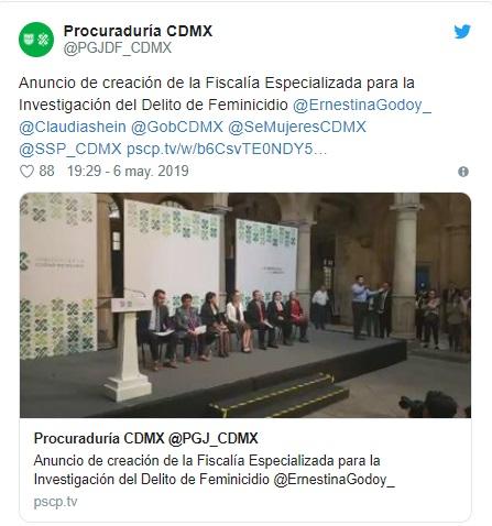 La CDMX tendrá una Fiscalía especializada para investigar feminicidios