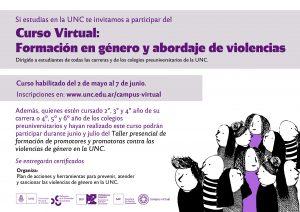 Formación en género y abordaje de violencias
