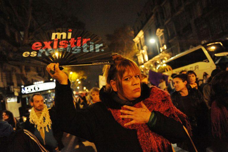 Miles exigieron que cese la violencia hacia travestis y trans en Argentina