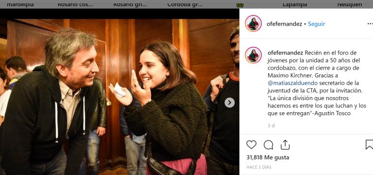 """Ofelia Fernández: """"Quiero ser la voz de los pibes en la política grande"""""""
