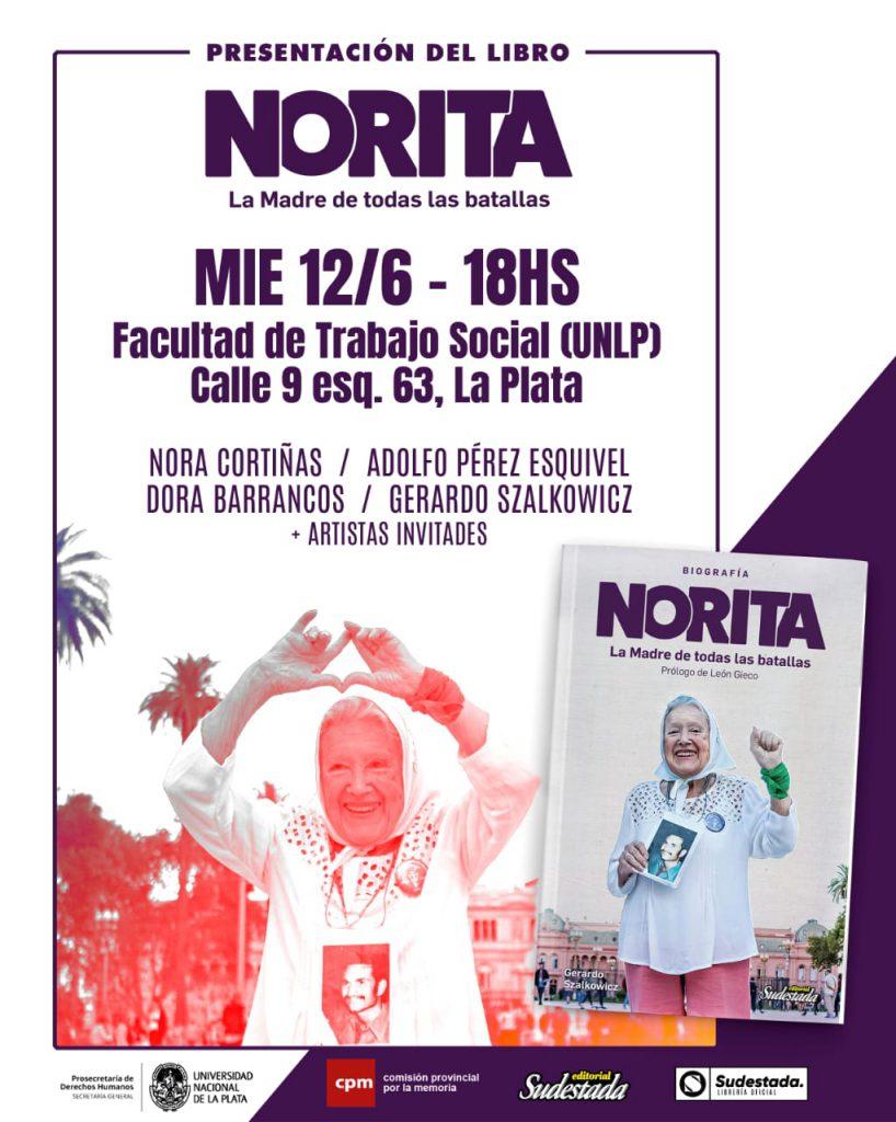 Presentan en La Plata la biografía de Nora Cortiñas