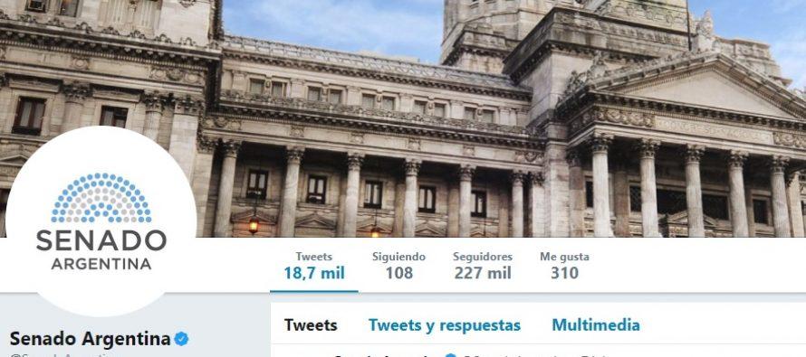 Repudio al tweet de la cuenta oficial del Senado de la Nación