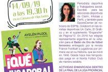 """Ayelén Pujol, charla: """"Ellas también juegan, cien años de fútbol femenino"""""""