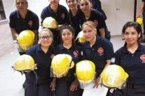 Bomberas voluntarias. Una dotación compuesta solo por mujeres sofocó un incendio