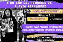 Mural en memoria de Flavia Fernández