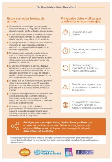 Día Mundial de la Salud Mental. Información y recursos