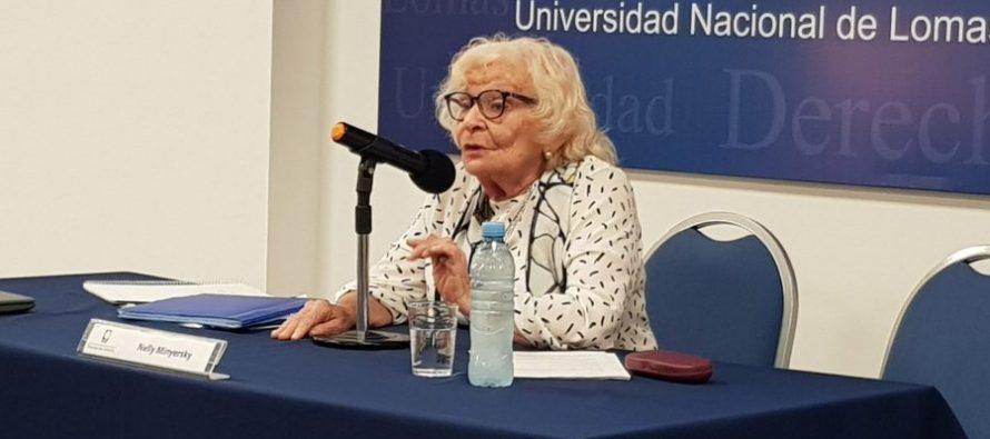 """Nelly Minyersky: """"Que no se apruebe el aborto es discriminación hacia los derechos de las mujeres"""""""