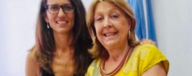Norma Durango se reunió con la ministra de Mujeres, Géneros y Diversidad de la Nación, Elizabeth Gómez Alcorta