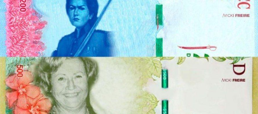 Billetes Feministas. Proponen a Azucena Villaflor, Juana Azurduy, Lohana Berkins como caras de los nuevos billetes