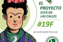 """19 de FEBRERO – JORNADA FEDERAL Y MUNDIAL POR EL ABORTO LEGAL """"El Proyecto está en las calles"""""""
