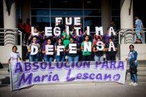 Por la absolución de María Lescano