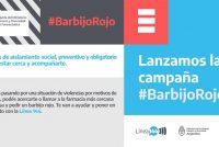 Lanzan Campaña «Barbijo rojo» contra la Violencia de Género
