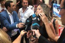 Malena Galmarini luego del discurso de Alberto Fernández en la Asamblea Legislativa