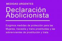 Declaración Abolicionista ante la emergencia social de las mujeres, travestis y trans prostituidas