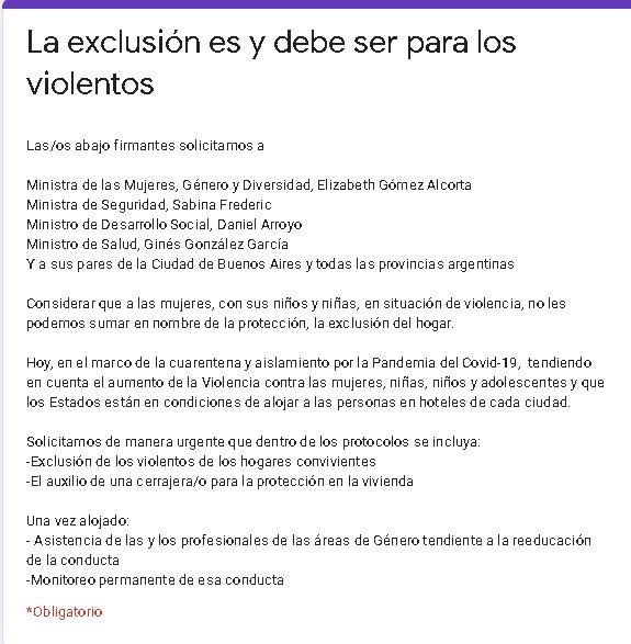 """Ministras coinciden con petitorio de la sociedad civil: """"Los violentos tienen que irse del hogar"""""""