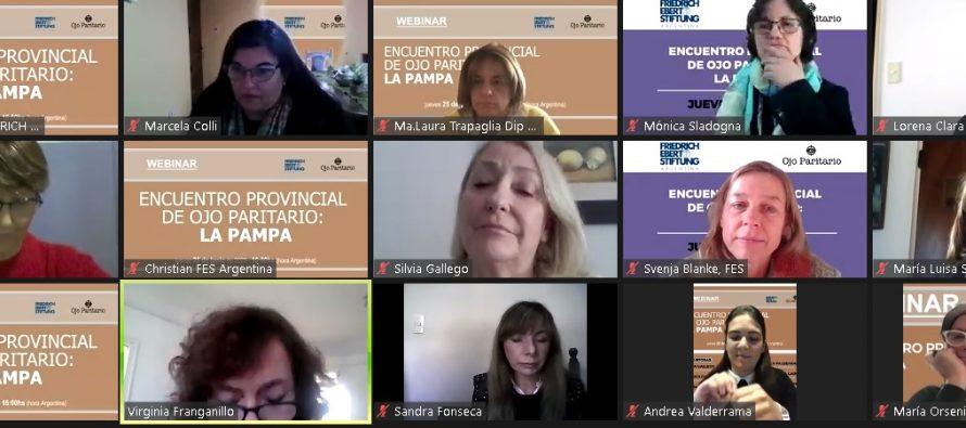 Más de 200 mujeres de La Pampa se reunieron virtualmente para debatir la Paridad de Género