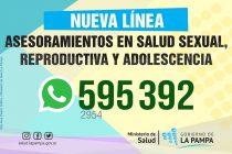Nueva línea de asesoramiento en Salud Sexual, Reproductiva y Adolescencia