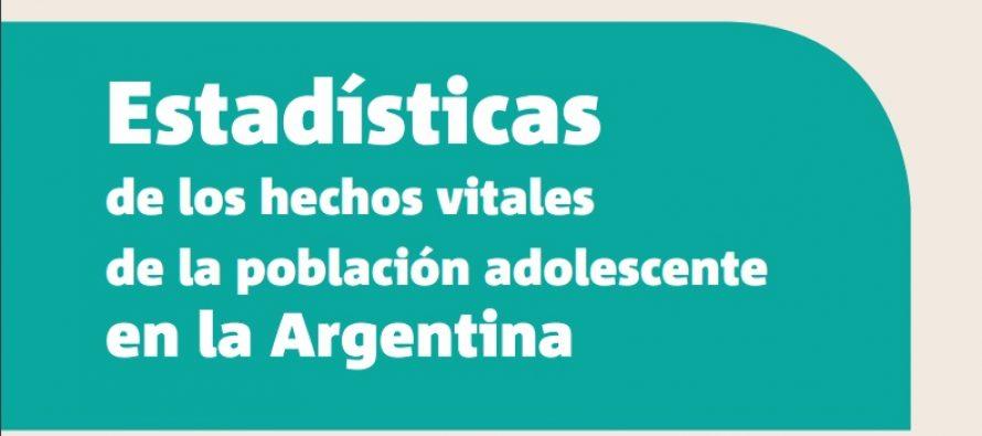 Estadísticas de los hechos vitales de la población adolescente en la Argentina