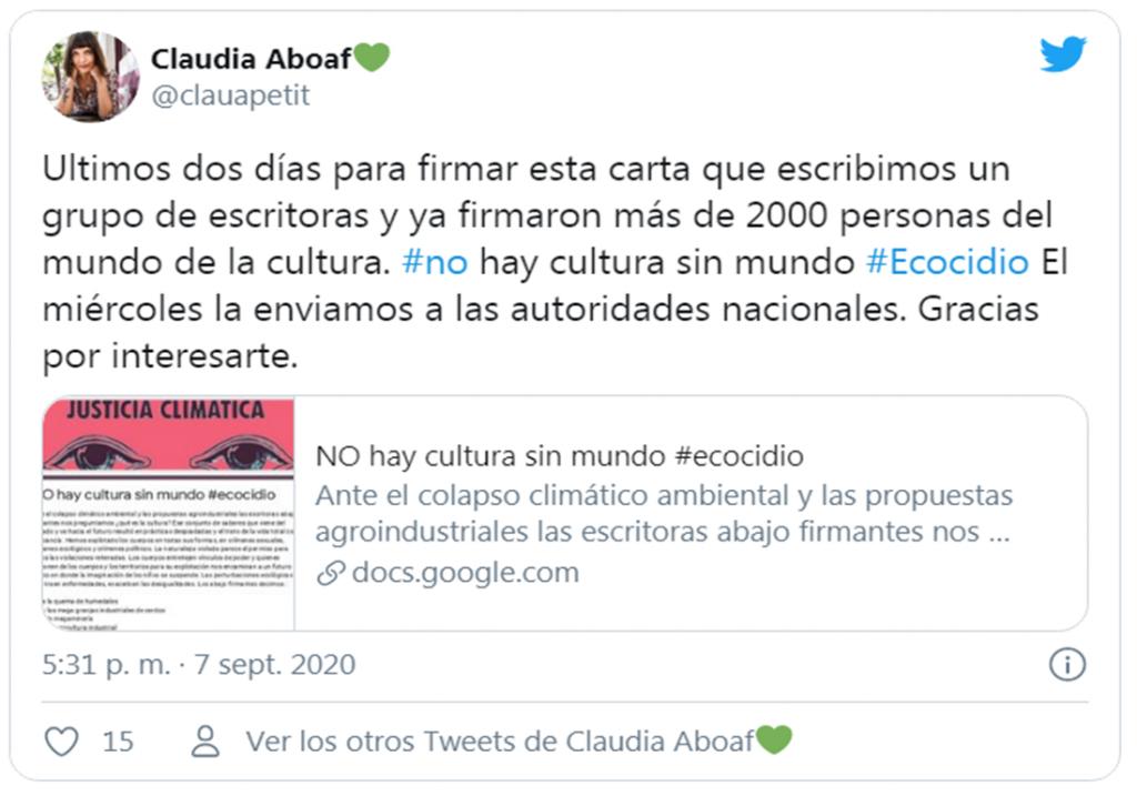 """""""No hay cultura sin mundo"""": escritoras y escritores por justicia climática"""