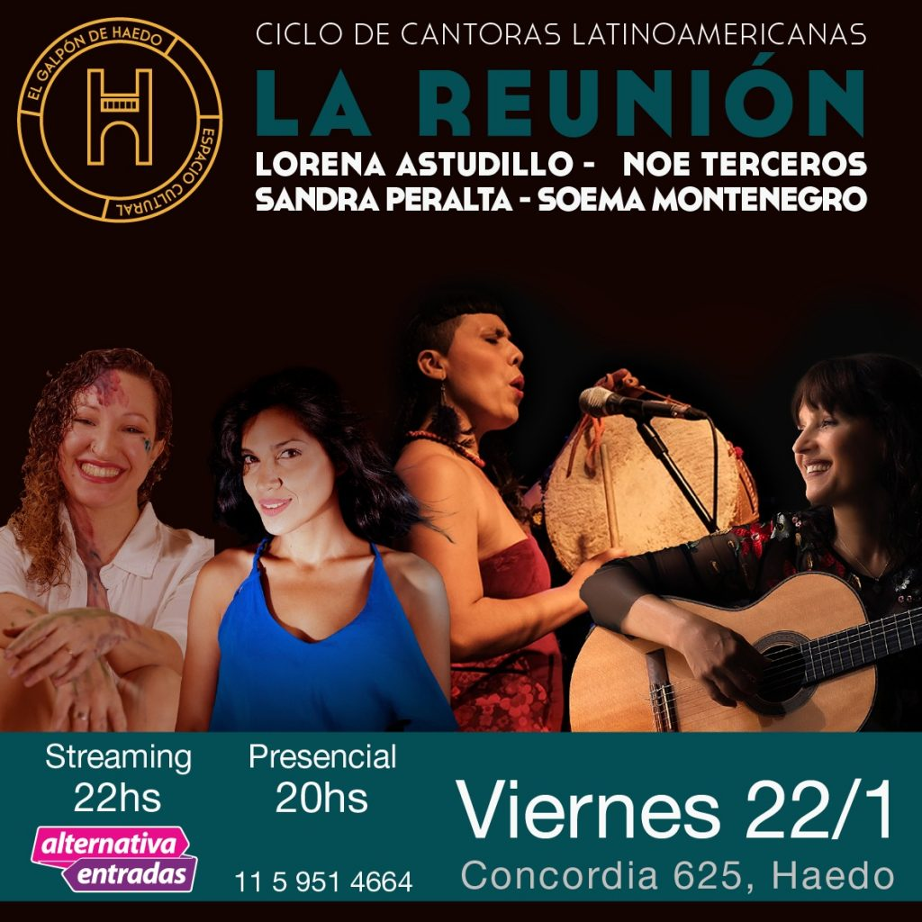 Noe Terceros se reencuentra con grandes cantoras para inaugurar el 2021 en vivo