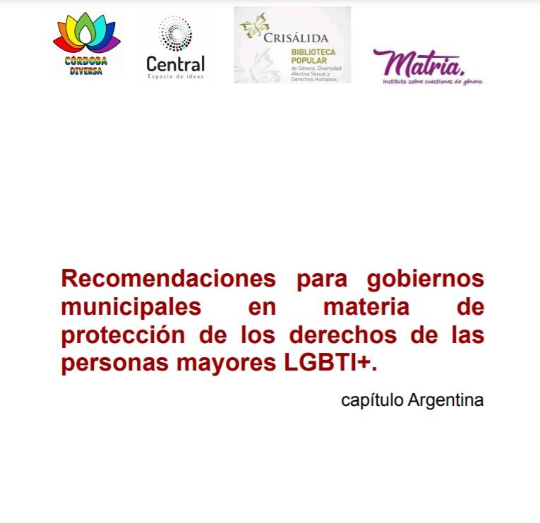 Recomendaciones para gobiernos municipales en materia de protección de los derechos de las personas mayores LGBTI+