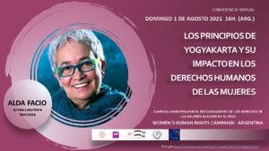 Conferencia virtual a cargo de la Jurista y escritora feminista Alda Facio